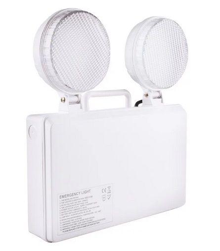 Bloc de secours LED TwinSpot circulaire 3W