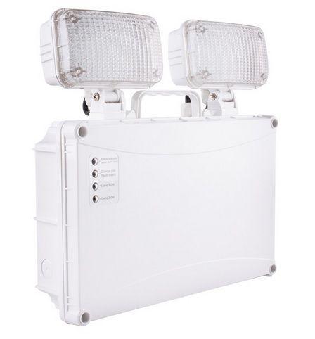 Bloc de secours LED TwinSpot rectangulaire 5W IP65