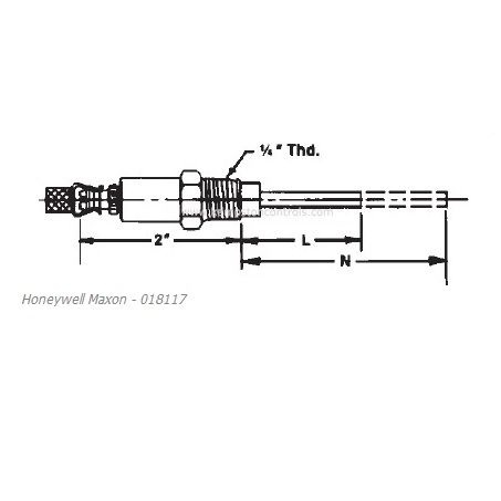 Électrode de flamme NP/RG/AL5 Maxon - 018117 - Honeywell
