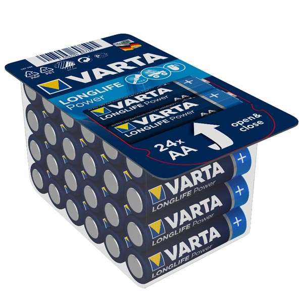 Pack refermable de 24 piles AA - VARTA