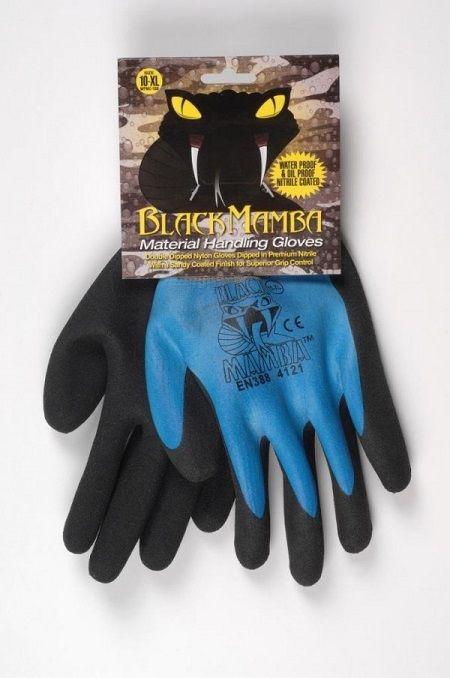 Paire gants nylon / nitrile étanche Black Mamba - Taille M à XXL