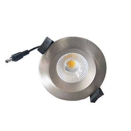 Downlight LED MiniRay CLAREO 8W Etanche Alu Brossé Access