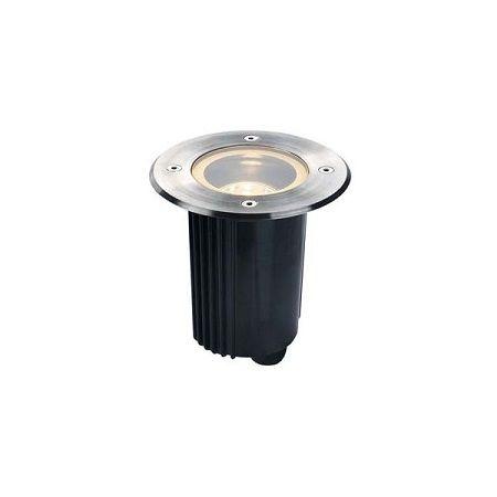 Encastré de sol SLV DASAR 80 INOX Rond ou carré GU10
