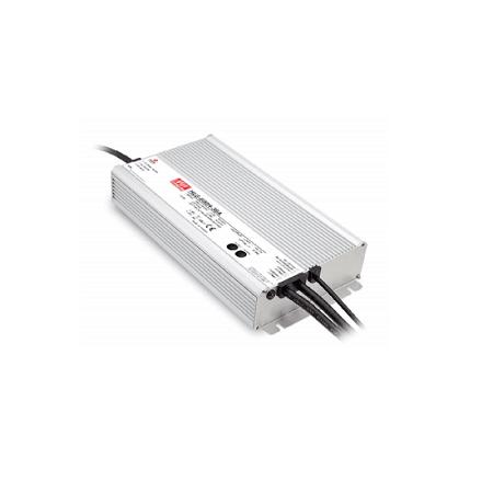 Driver Meanwell 24VDC 600W IP67 DIM 1-10 - HLG-600H-24B