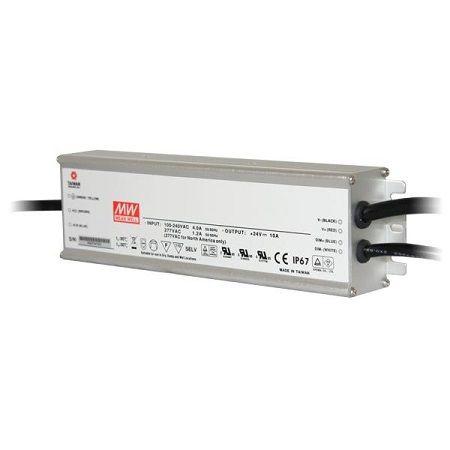 Driver MeanWell 24VDC 240W IP67 DIM 1-10 Alu - HLG-240H-24B