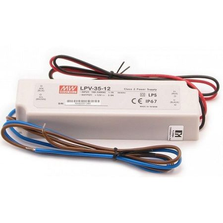 Driver MeanWell 12VDC 35W IP67 Déco - LPV-35-12