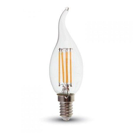 Ampoule LED V-TAC filament flamme 4W E14 VT-1997