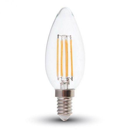 Ampoule LED V-TAC flamme filament 4W E14 VT-1986