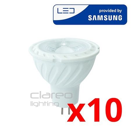 Spot LED V-TAC PRO 6,5 W GU5.3 Samsung Chip PACK 10 VT-267