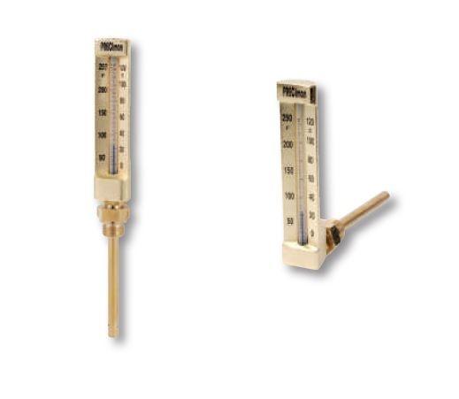 Thermomètres droits et équerres industriels - Preciman