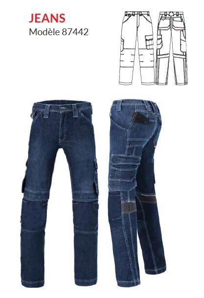 Jeans de travail modèle 87442 - HAVEP® ATTITUDE