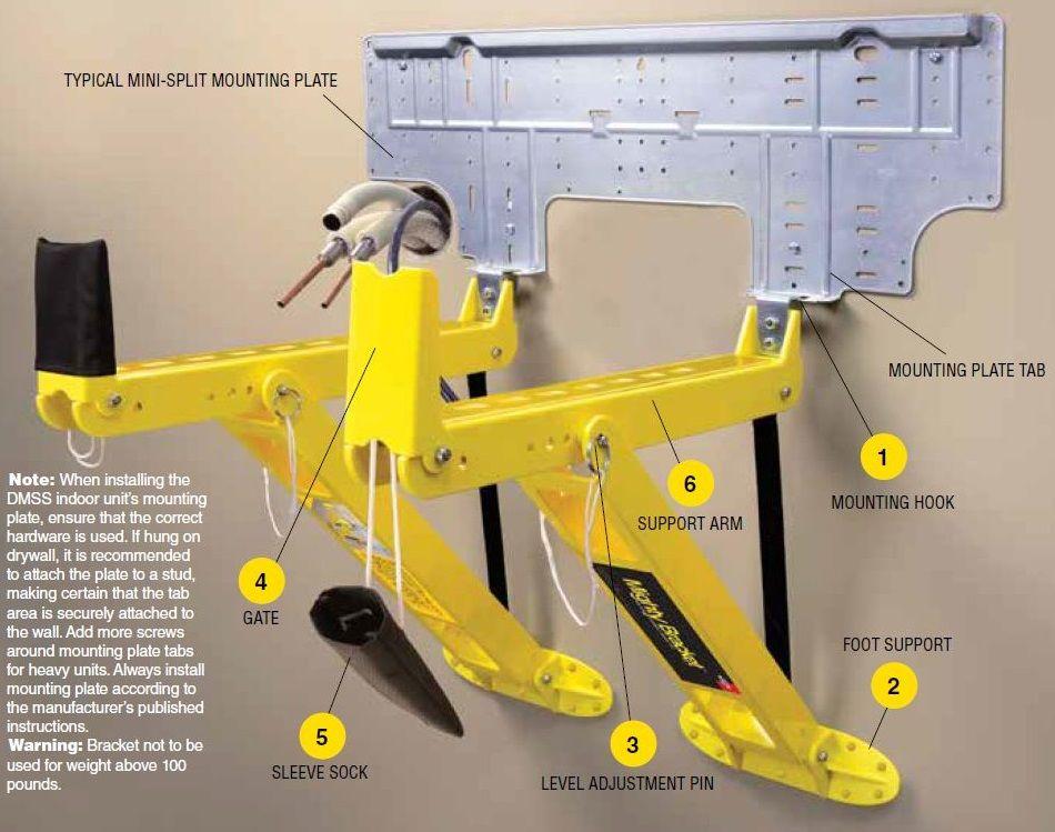 Support de montage unité intérieure 21030100 - Artiplastic