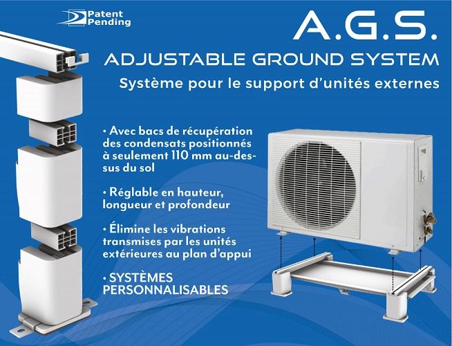 Bac condensat sur pied avec ou sans résistance chauffante - A.G.S.