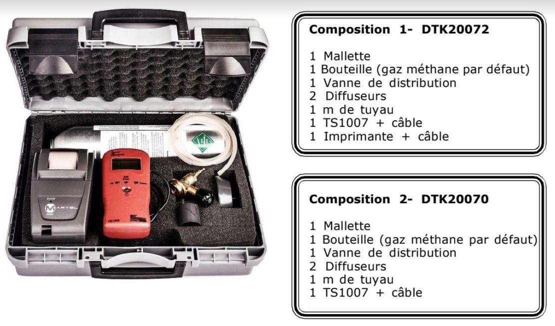 Mallette Kit Test Détection Gaz Naturel (avec TS1008) - Dtek Gaz