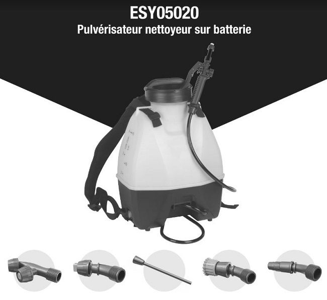 Pulvérisateur multifonction 16L sur batterie - EASYSPRAY - Easyclim