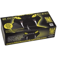 3 BOITES DE 100 GANTS JETABLES NITRILE L - BLACK MAMBA - BLM05006