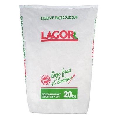 LAGOR LESSIVE POUDRE FORMULE ENRICHIE sac 20kg blanchisserie pressing