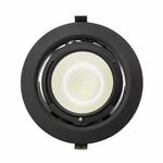 Downlight LED CLAREO Orientation réglable V2 LED Samsung 38W Noir