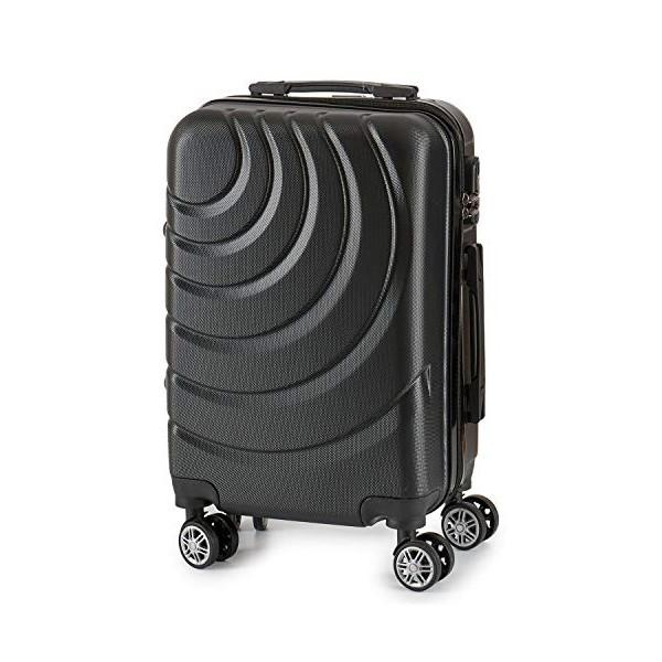 Valise cabine ABS à roulettes en 5 coloris disponible