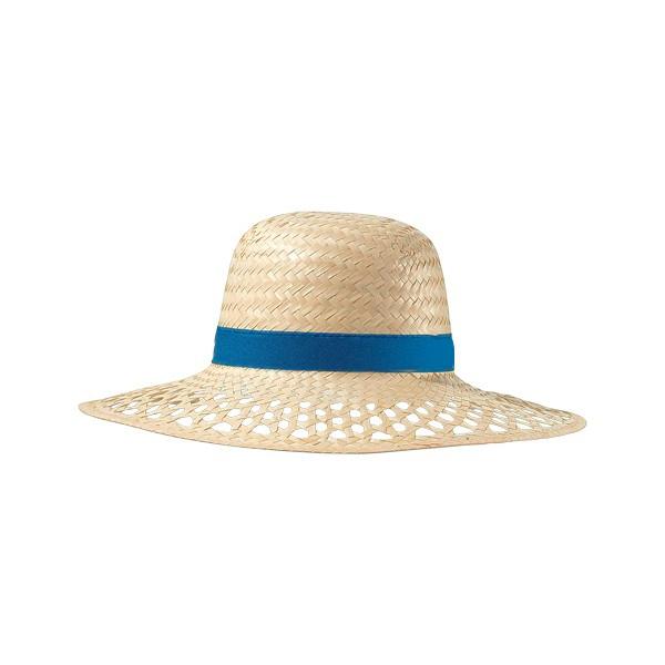 Chapeau de Paille avec bandeau bleu