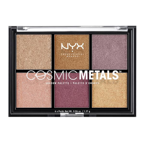 Palette d\'ombres à paupières Cosmic Metals NYX 6 x 1,37 g