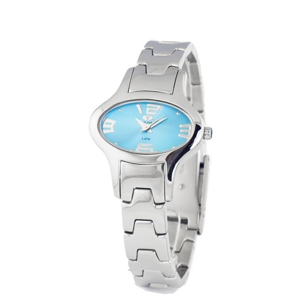Montre Femme Acier Ovale Time Force cadran bleu 1