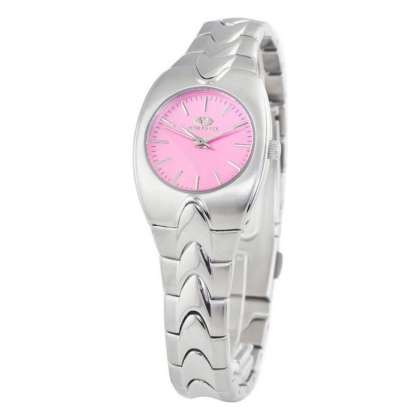Montre Femme ronde en Acier Time Force  cadran rose