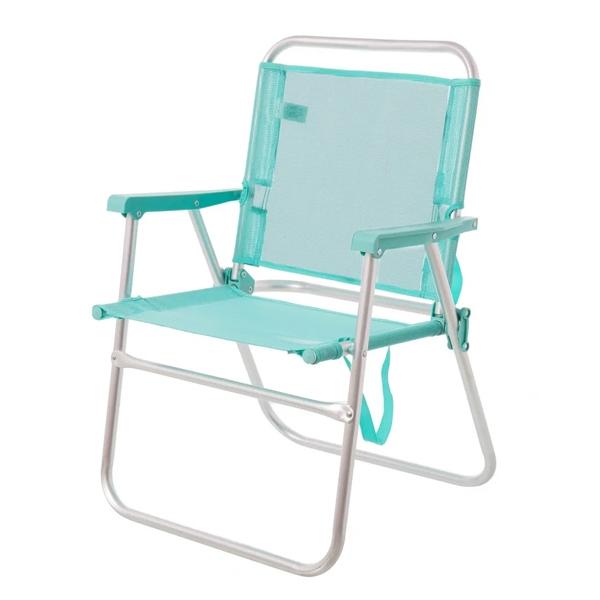 Chaise Pliante bleu pour plage ou camping en aluminium