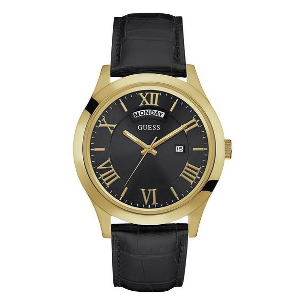 Montre pour Homme Guess cadran Acier bracelet cuir