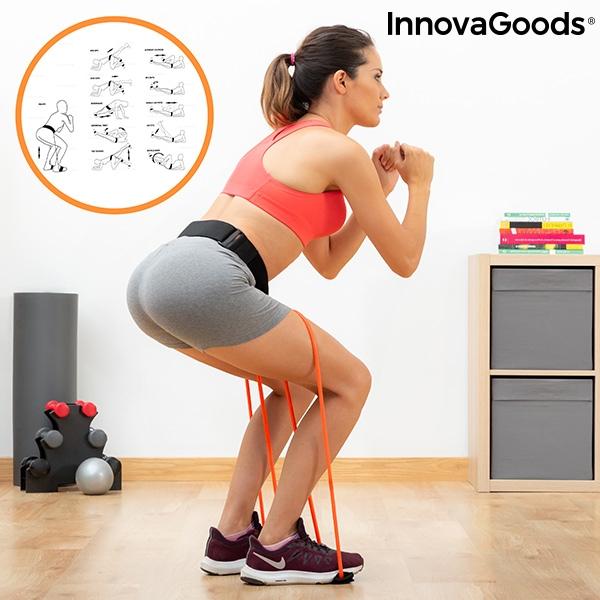 Ceinture fitness avec bandes de résistance pour les fessiers et guide d\'exercices