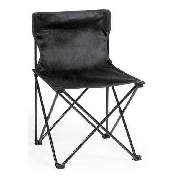 Chaise Pliante toile noir plage camping pêche