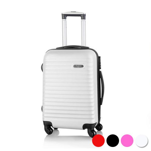 Valise cabine à roulettes blanc noir ou fuchsia