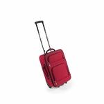 Valise cabine Trolley à roulette rouge avec anse transport