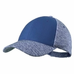 Casquette Mixte 4 couleurs réglable par velcro bleu