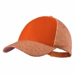 Casquette Mixte 4 couleurs réglable par velcro orange
