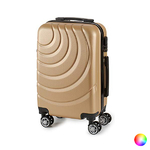 Valise cabine ABS à roulettes en 5 coloris disponible doré