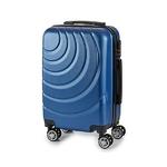 Valise cabine ABS à roulettes en 5 coloris disponible bleu