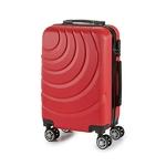 Valise cabine ABS à roulettes en 5 coloris disponible rouge