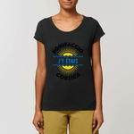 Tee-shirt Slub Femme My Corsican Paradise noir