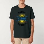Tee-shirt Unisexe Aspect Vieilli My Corsican Paradise noir