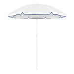 Parasol plage diamètre 150 cm 8 coloris blanc/bleu