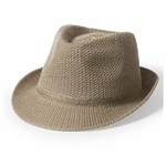 chapeau borsalino marron