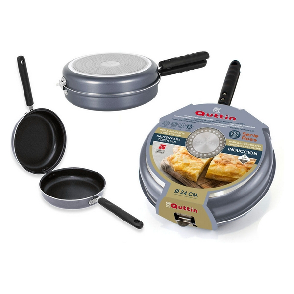 poêle double omelette inox compatible inductionQuttin