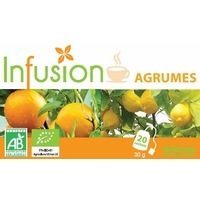 Infusion AGRUMES Bio 20 Sachets Biotechnie (citron, de citronnelle, d'orange et d'orange amer)