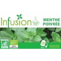 Infusion Digestion et Vitalité  MENTHE POIVREE Bio 20 Sachets Biotechnie