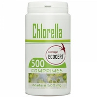 Chlorella Ecocert 500 comprimes 500 mg