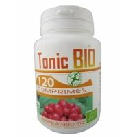 Tonic Bio - 400 mg - 120 comprimés (Ginseng, Ginkgo et Echinacea)