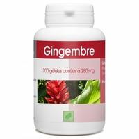 Gingembre racine 200 gelules 300 mg