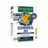 Sommeil 8H 20 ampoules melatonine valeriane passiflore tilleil et escholtzia