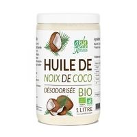 Huile Noix de Coco Désodorisée Bio 1 LITRE GPH